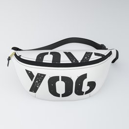 Love you typography white pattern Fanny Pack