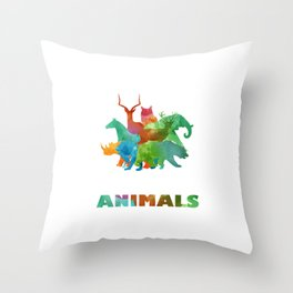 Rescue Pets Made To Save Animal Rights Supporter  Throw Pillow