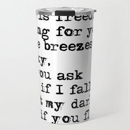 What if you fly? Vintage typewritten Travel Mug