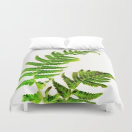 Fern on white Duvet Cover