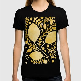 Branches and leaves - yellow T-shirt