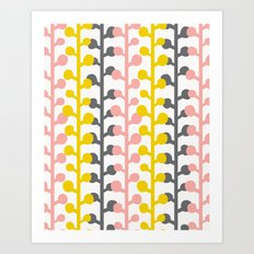 Sprig - Pink Lemonade Art Print