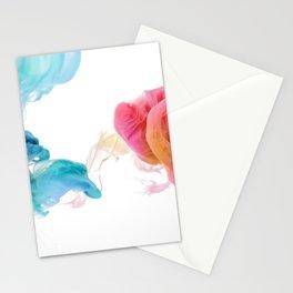 Colorful smoke pattern Stationery Cards
