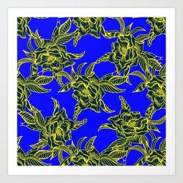 Linear roses Art Print