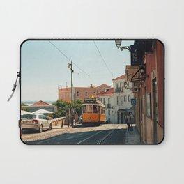 Lisbon yellow tram, Portugal Analog 6x6 Kodal Ektar 100 (RR 167) Laptop Sleeve