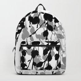 Elegant Pussywillow | Black • White • Gray Backpack