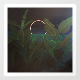 Jungle Eclipse Art Print