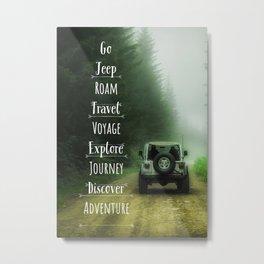 Go, Jeep Metal Print
