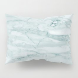Marble Pale Teal Sea Green Marble Pillow Sham