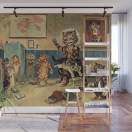 The Naughty Puss Cat Print by Louis Wain Wall Mural
