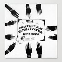 ouija Canvas Prints featuring Ouija by Sabrina Brubaker