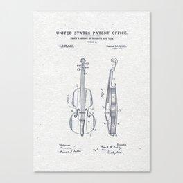 Violin patent Canvas Print