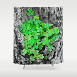 Clover Cluster Shower Curtain
