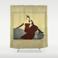 shameless Shower Curtains featuring Steampunk Chic by Aquamarine Studio