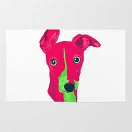 italian greyhound - wht Rug