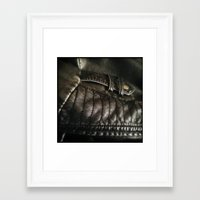leather Framed Art Prints featuring Leather by Adam Grey