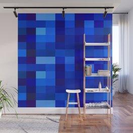 Blue Mosaic Wall Mural