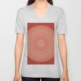 Mandala Boho-Chic orange Unisex V-Neck