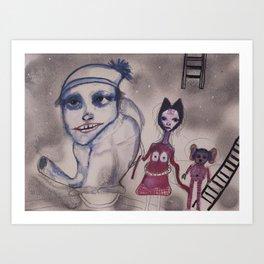 strange family Art Print
