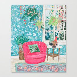 Pink Tub Chair Canvas Print