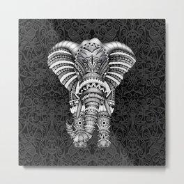 elephant with aztec pattern Metal Print