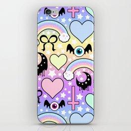 Pastel Goth Collage iPhone Skin