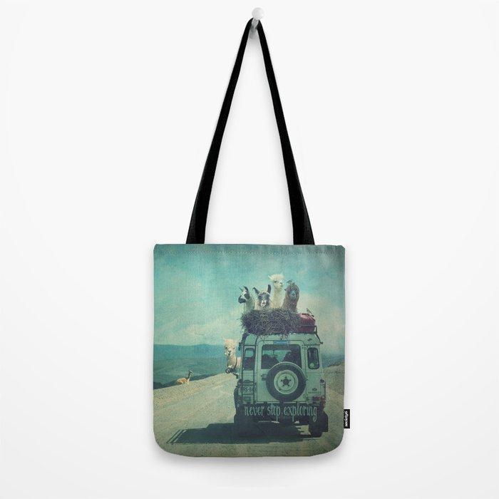 NEVER STOP EXPLORING II SOUTH AMERICA Tote Bag