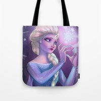 elsa Tote Bags featuring Elsa by Red Red Telephone