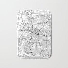 Sacramento Map White Bath Mat