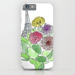 Paris, Artichoke, Dahlias iPhone Case