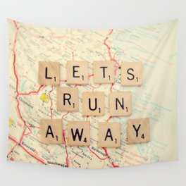 let's run away Wall Tapestry