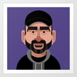 Comics of Comedy: Dave Attell Art Print