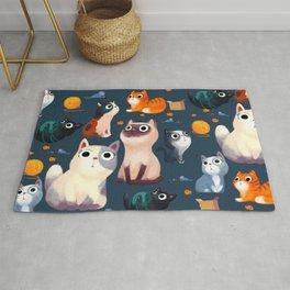 Cat Print Rug