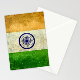 Flag of India - Grungy Vintage Stationery Cards