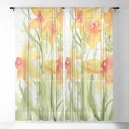 Loose Daffodils II Sheer Curtain