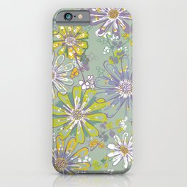 Spring meadow pattern iPhone Case