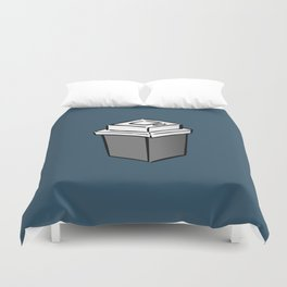 Coffee Square Duvet Cover