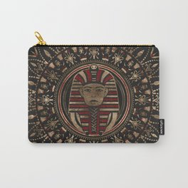 King Tutankhamun mask in circular ornament Carry-All Pouch