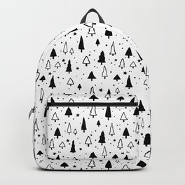 Black and white Christmas trees pattern Backpack