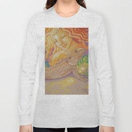Sun And Dragon, Bearded Dragon Art Long Sleeve T-shirt
