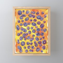 Blueberry Bonanza Framed Mini Art Print