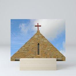 Church Top In Santa Paula Mini Art Print