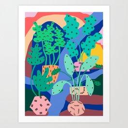 River Plants 1 Art Print