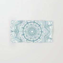 Teal Flower Mandala Hand & Bath Towel