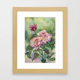 Grandma's Roses Framed Art Print