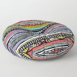 patterns of color Floor Pillow