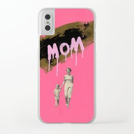 Mom Clear iPhone Case
