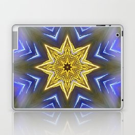 Glistening Golden Star Laptop & iPad Skin