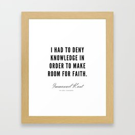 8  |  Immanuel Kant Quotes | 190810 Framed Art Print