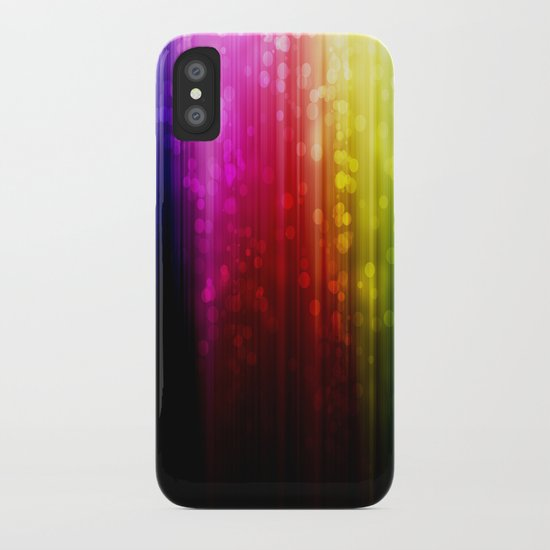 Rainbow Rain. iPhone Case